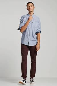 Vanguard overhemd met all over print blauw, Blauw