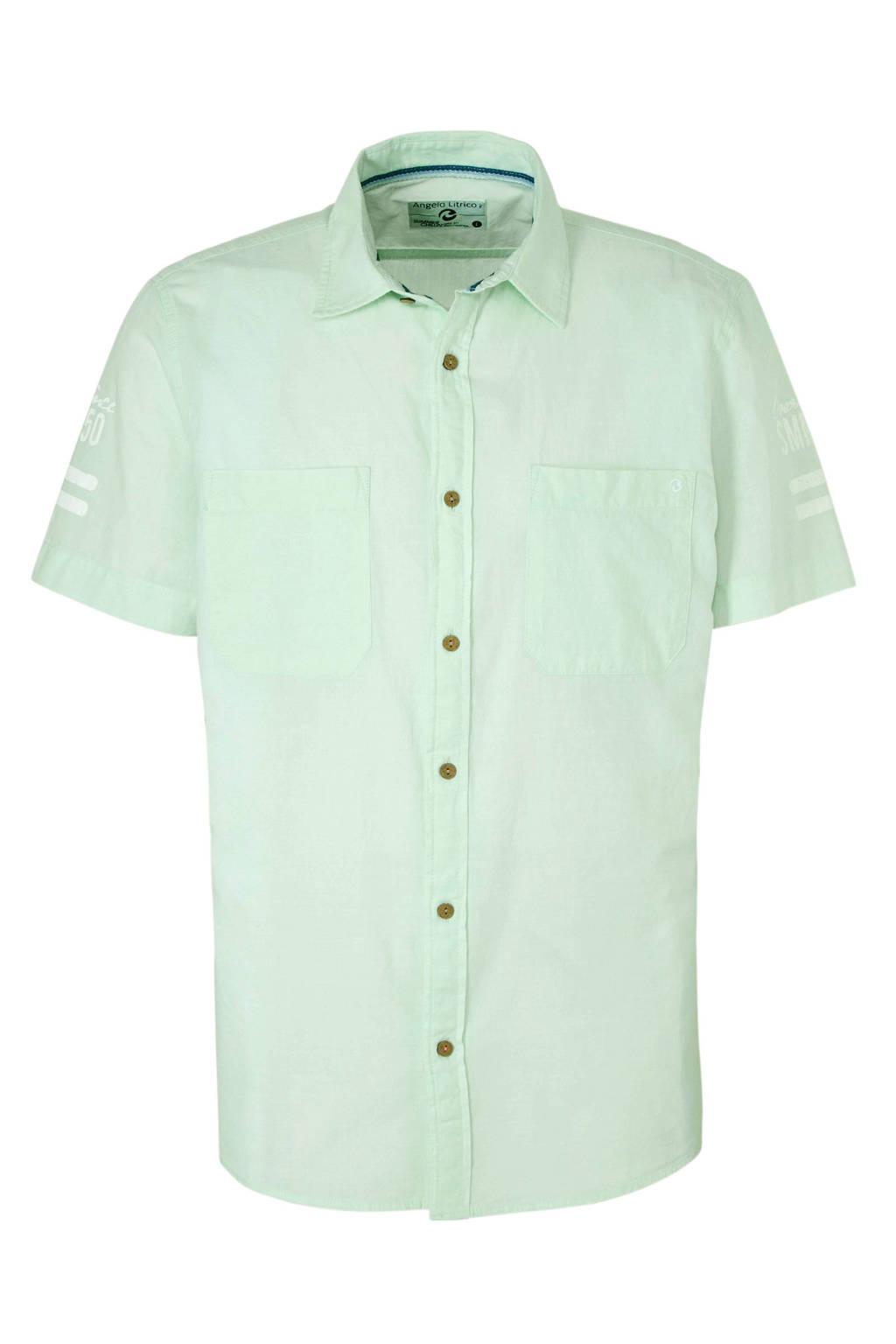 Overhemd Mintgroen.C A Angelo Litrico Overhemd Mintgroen Wehkamp