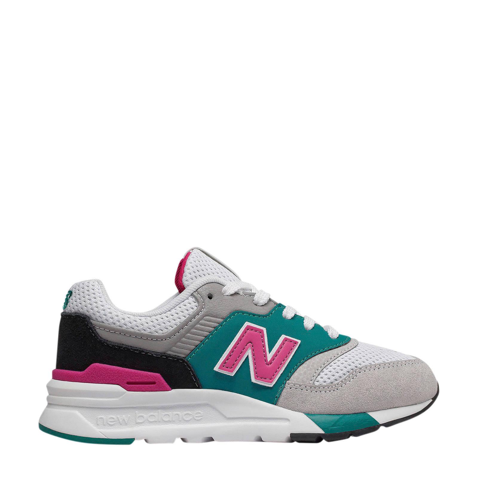 New Balance 997 sneakers groen/roze/wit   wehkamp