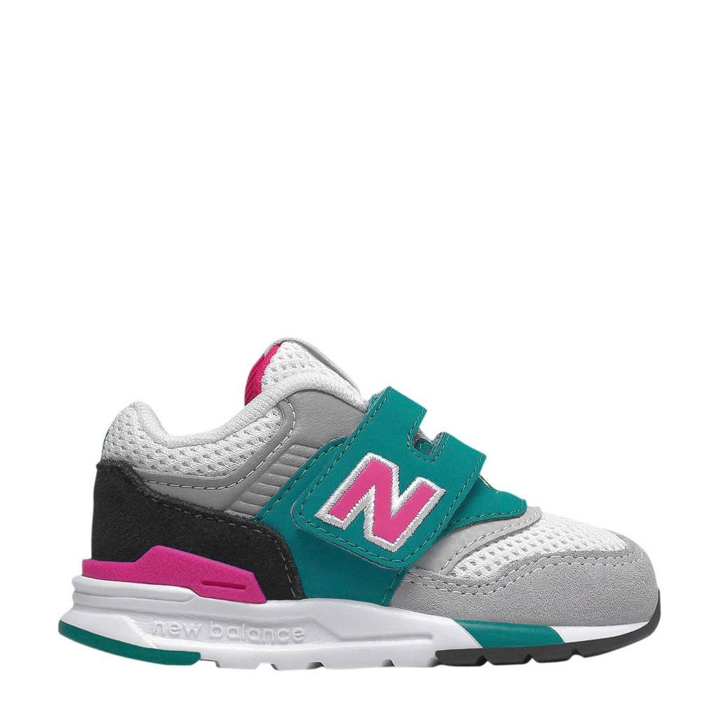New Balance  997 sneakers groen/roze/wit, Groen/roze/wit
