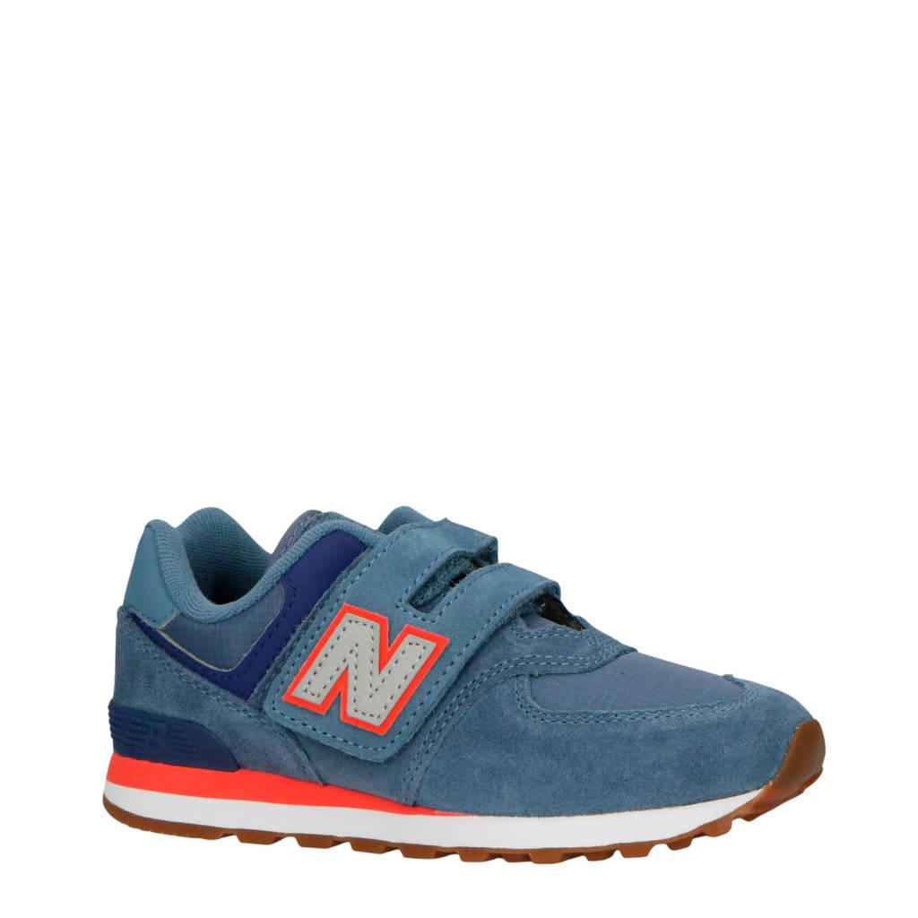 New Balance  574 sneakers blauw/oranje, Blauw/oranje