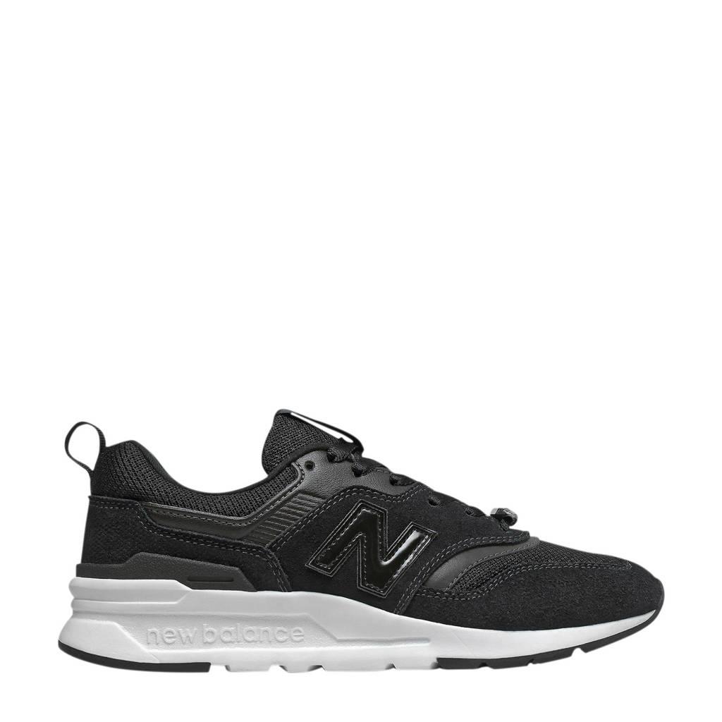 New Balance  997 sneakers met glitters en lak zwart/wit, Zwart/wit