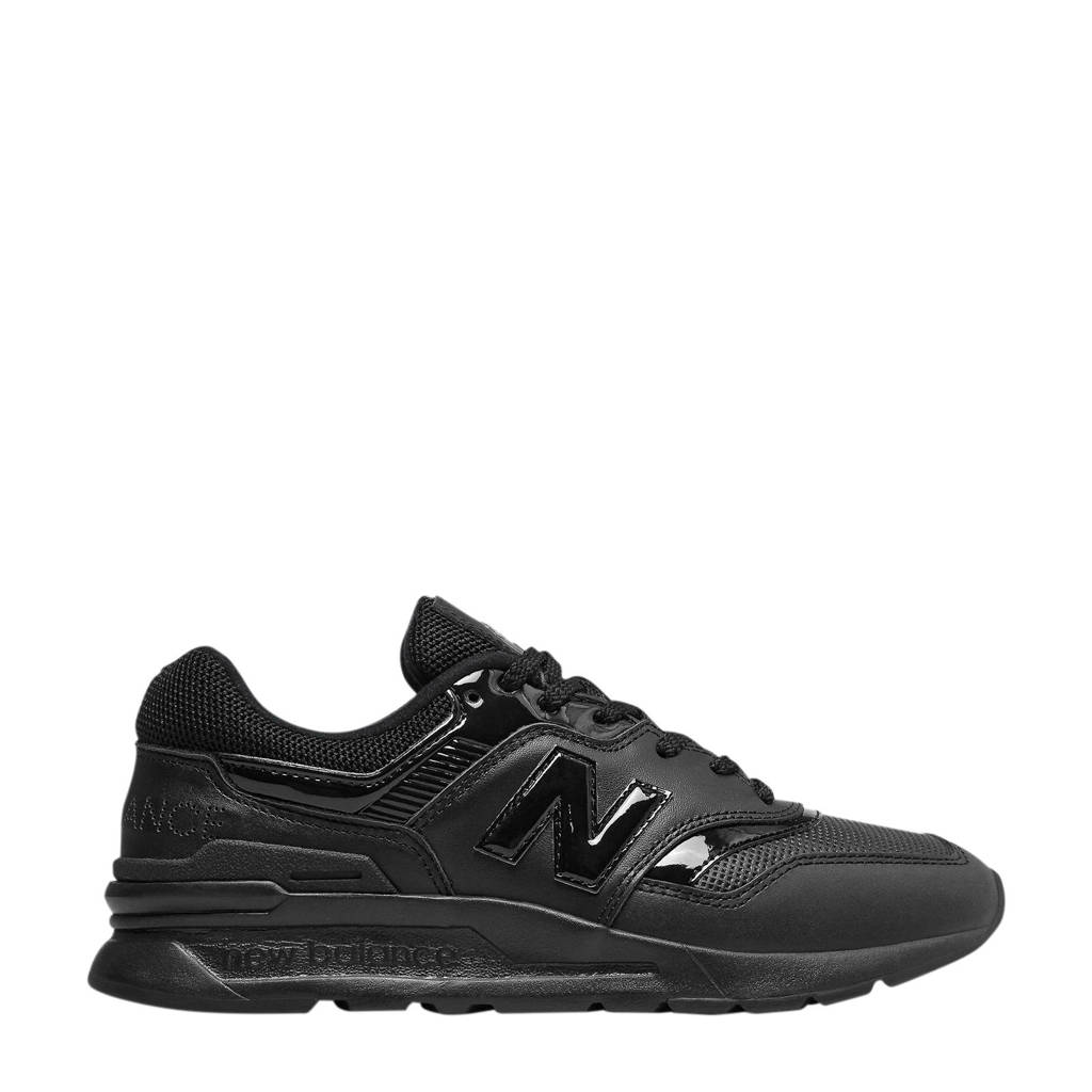 New Balance 997  sneakers glans zwart/roze, Zwart