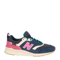 New Balance 997  sneaker blauw/roze/wit, Blauw/roze/wit
