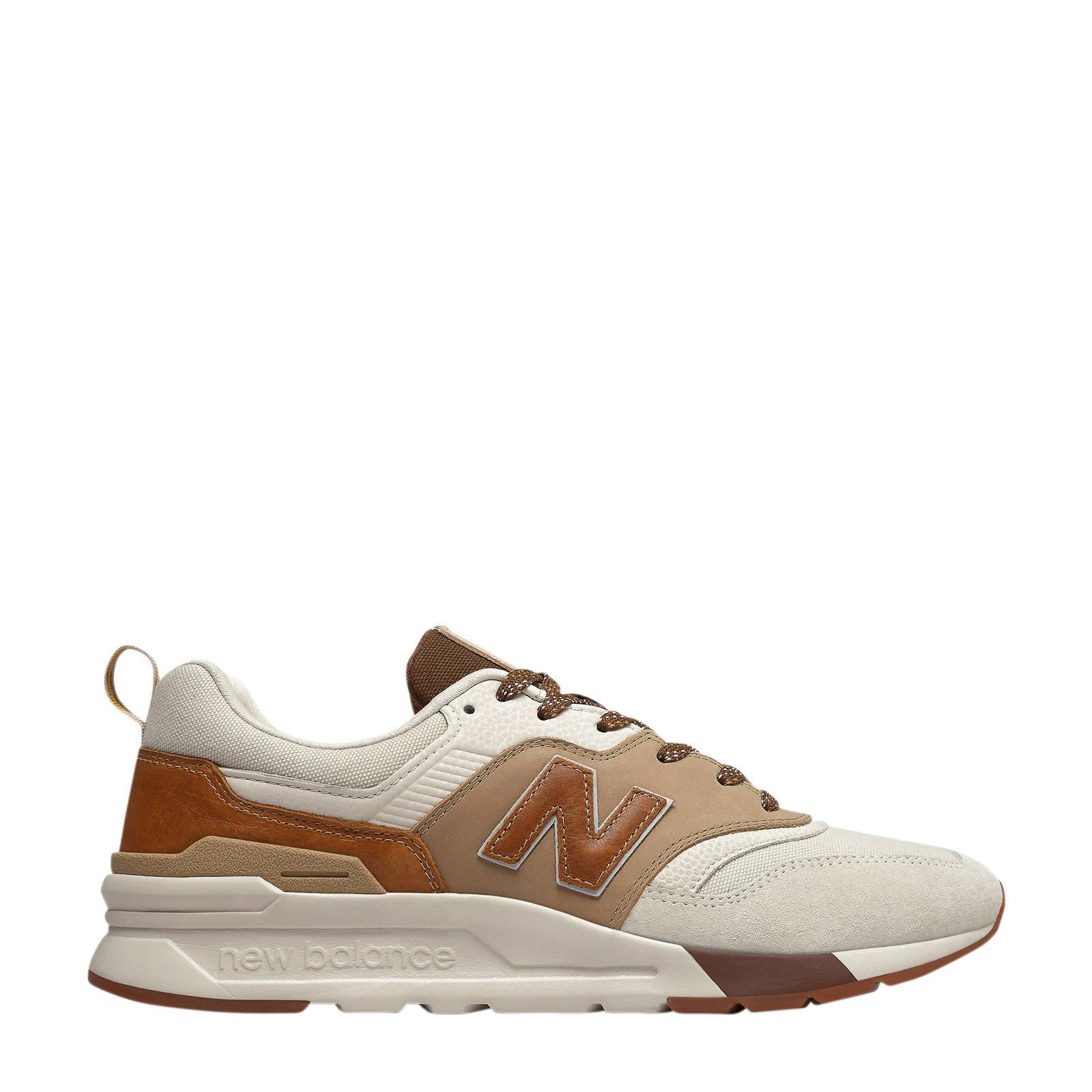 New Balance 997 sneakers gebroken wit/bruin | wehkamp