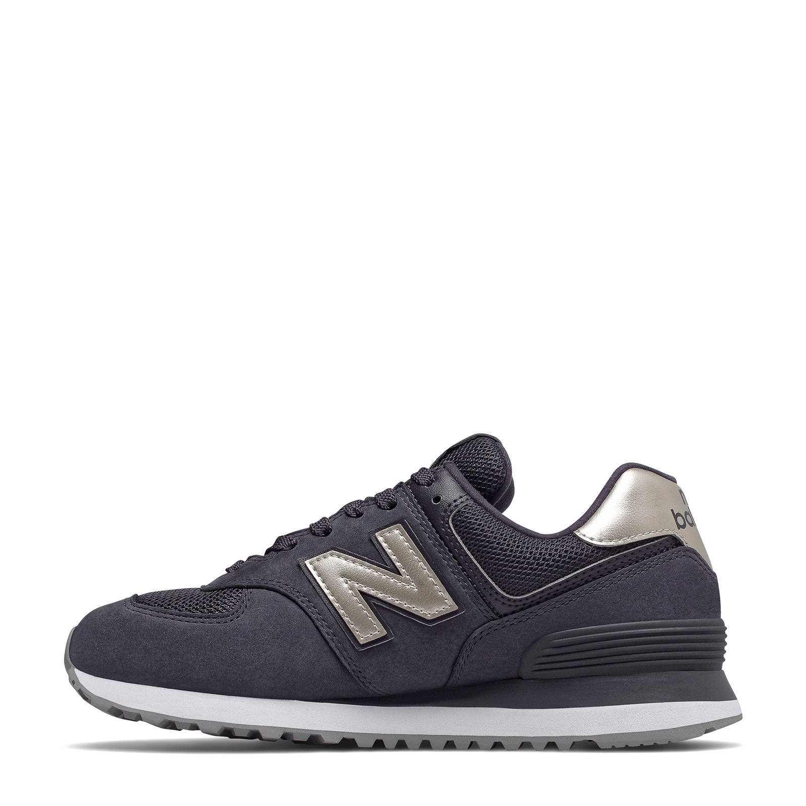 New Balance WH574 suède sneakers paarszilver | wehkamp