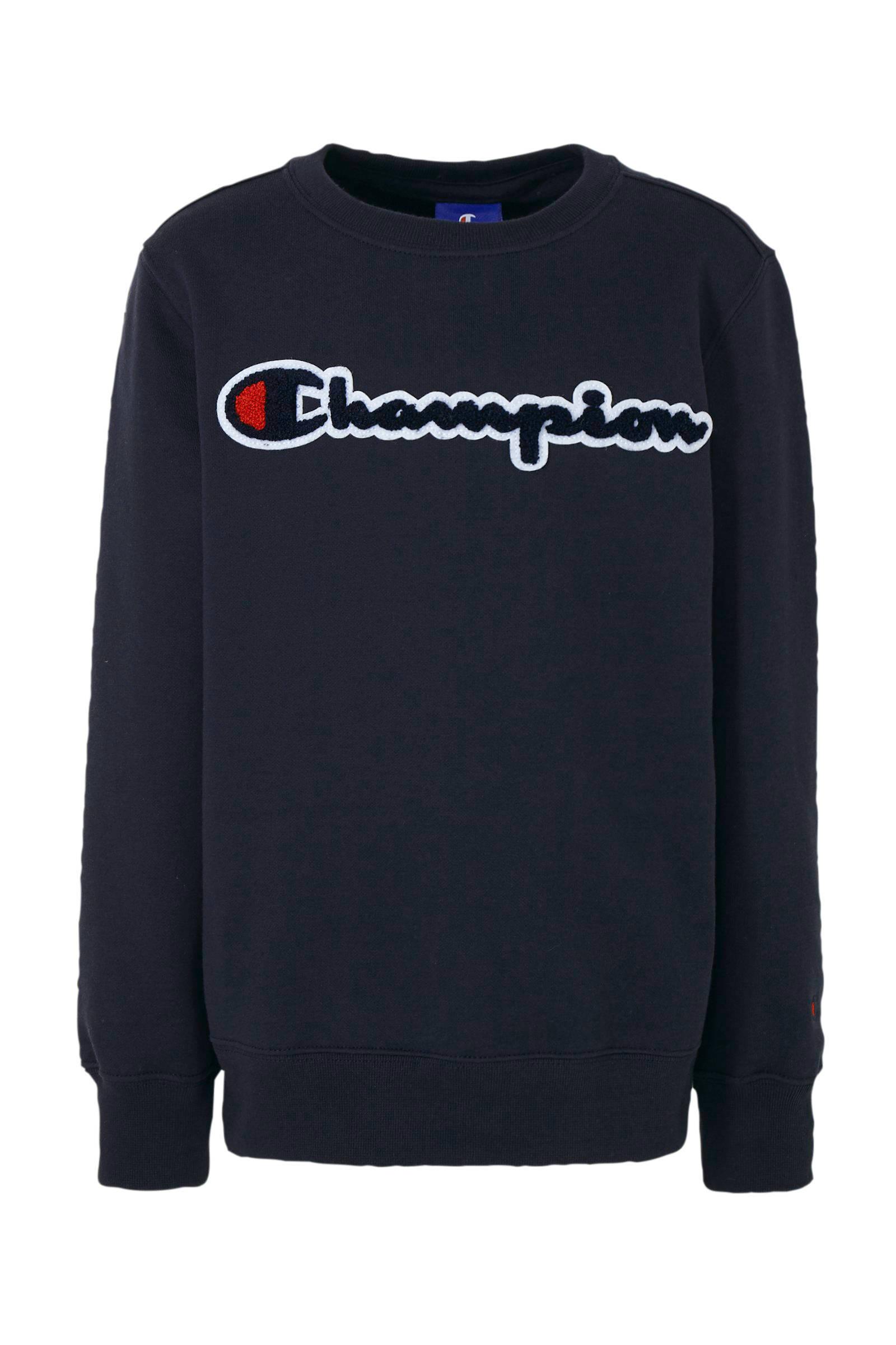 Champion sweater met logo zwart | wehkamp