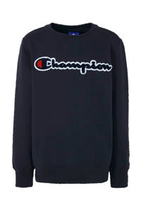 Champion sweater met logo en 3D applicatie donkerblauw, Donkerblauw