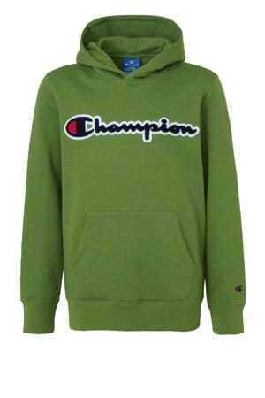 hoodie met 3D applicatie groen
