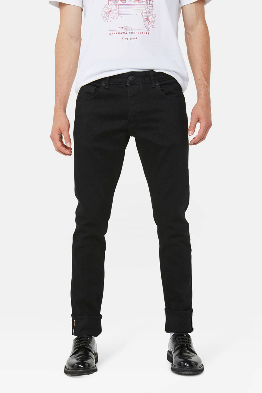 WE Fashion Blue Ridge tapered fit jeans Sloane  black denim, Black denim