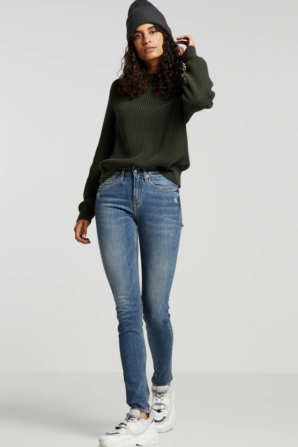 CALVIN KLEIN JEANS high waist skinny jeans, Light denim