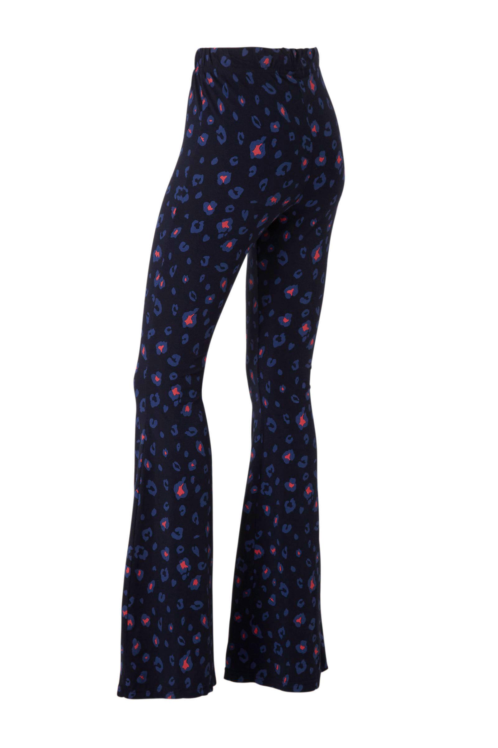 Colourful Rebel high waist flared broek met panterprint