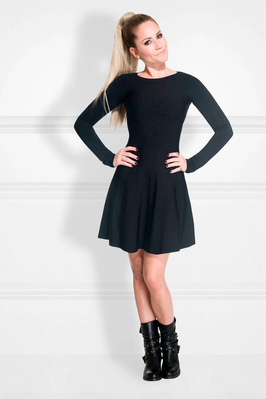 NIKKIE A-lijn jurk Jintha zwart, Zwart