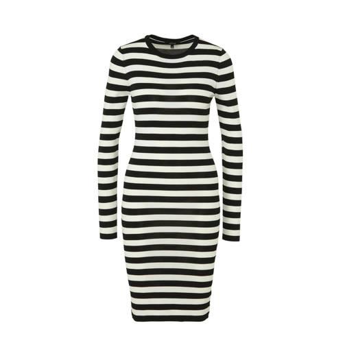 NIKKIE gestreepte jersey jurk Jolie zwart/wit