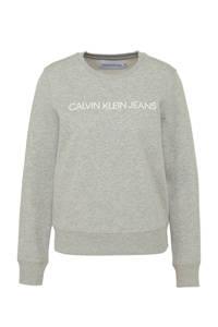 CALVIN KLEIN JEANS sweater met logo licht grijs, Licht grijs