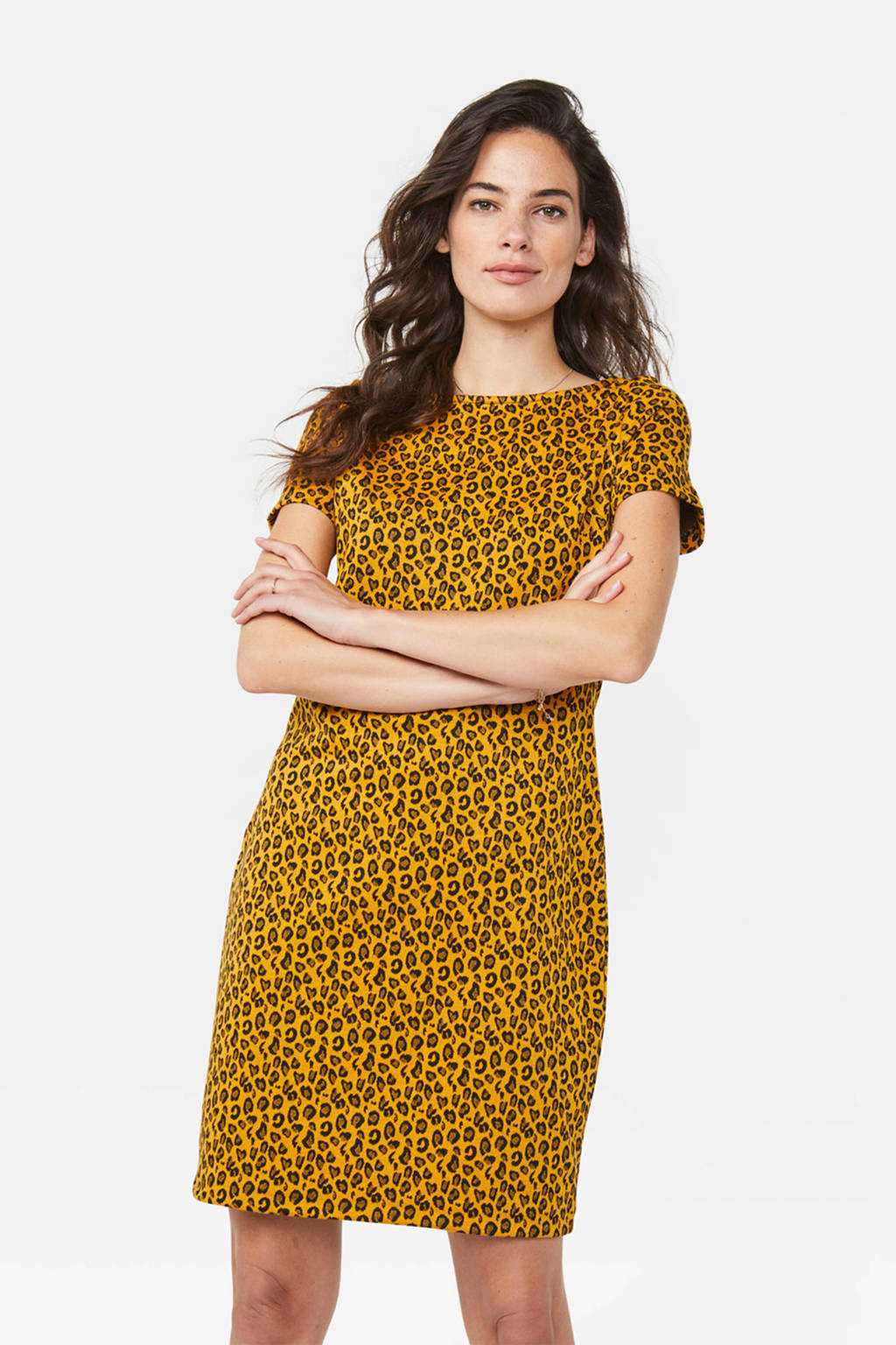 WE Fashion jurk met dierenprint burned ocre, Burned Ocre