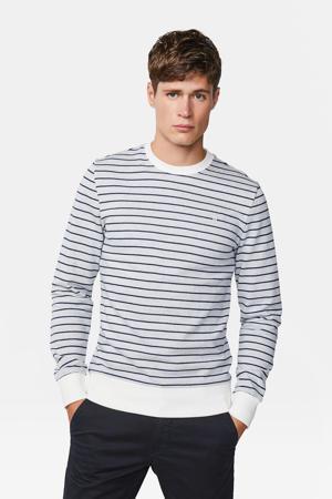 Blue Ridge gestreepte sweater grijs/wit