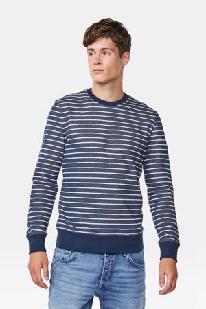 Blue Ridge gestreepte sweater donkerblauw/wit