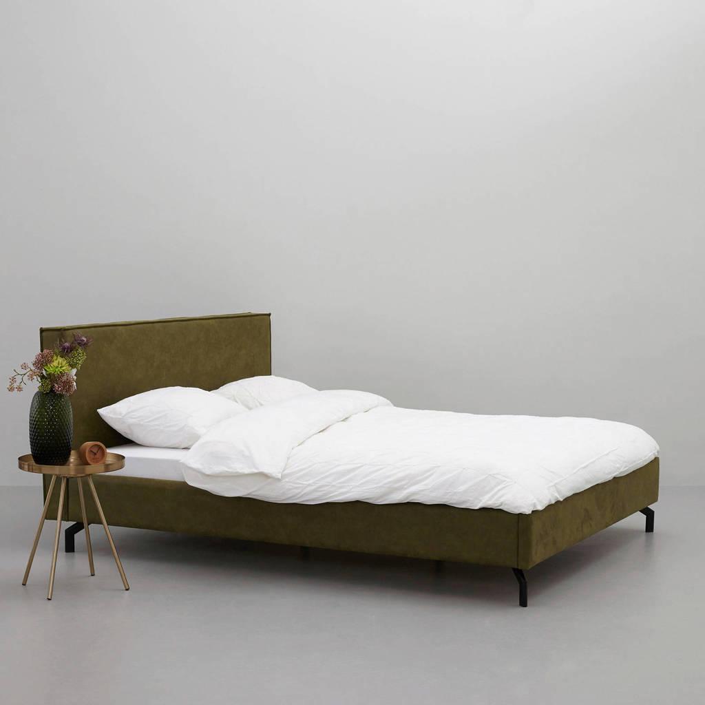 wehkamp home eco-leren bed Detroit  (160x200 cm), Groen