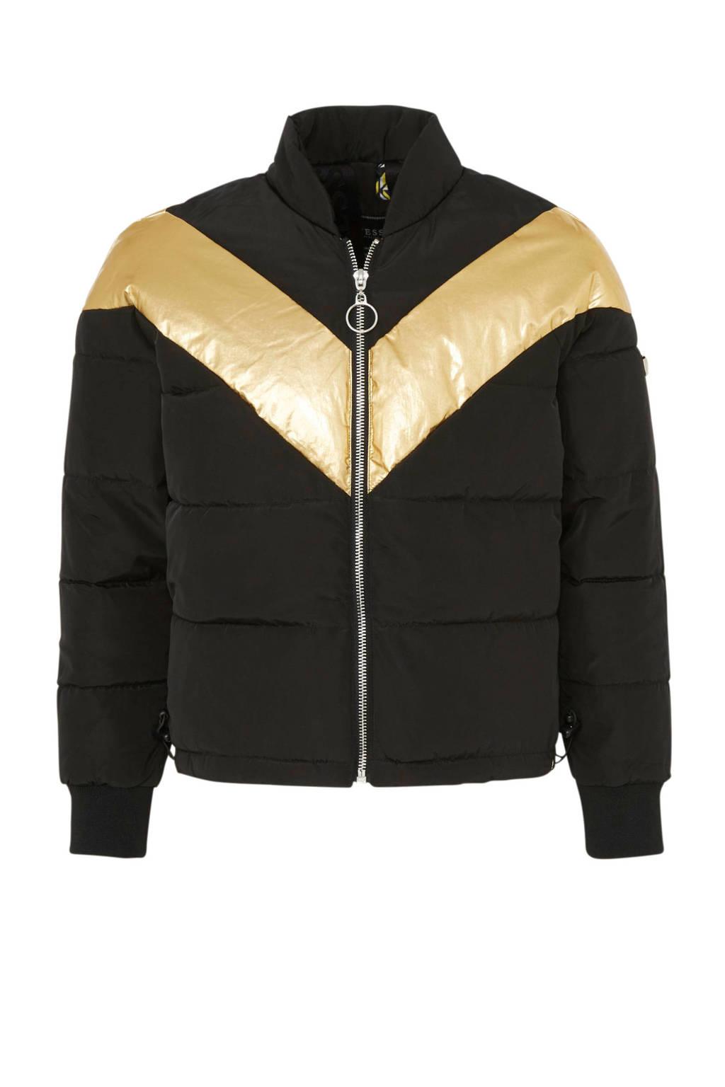 GUESS winterjas zwart/ goud