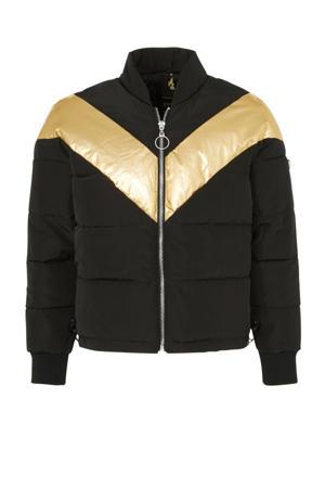 winterjas zwart/ goud