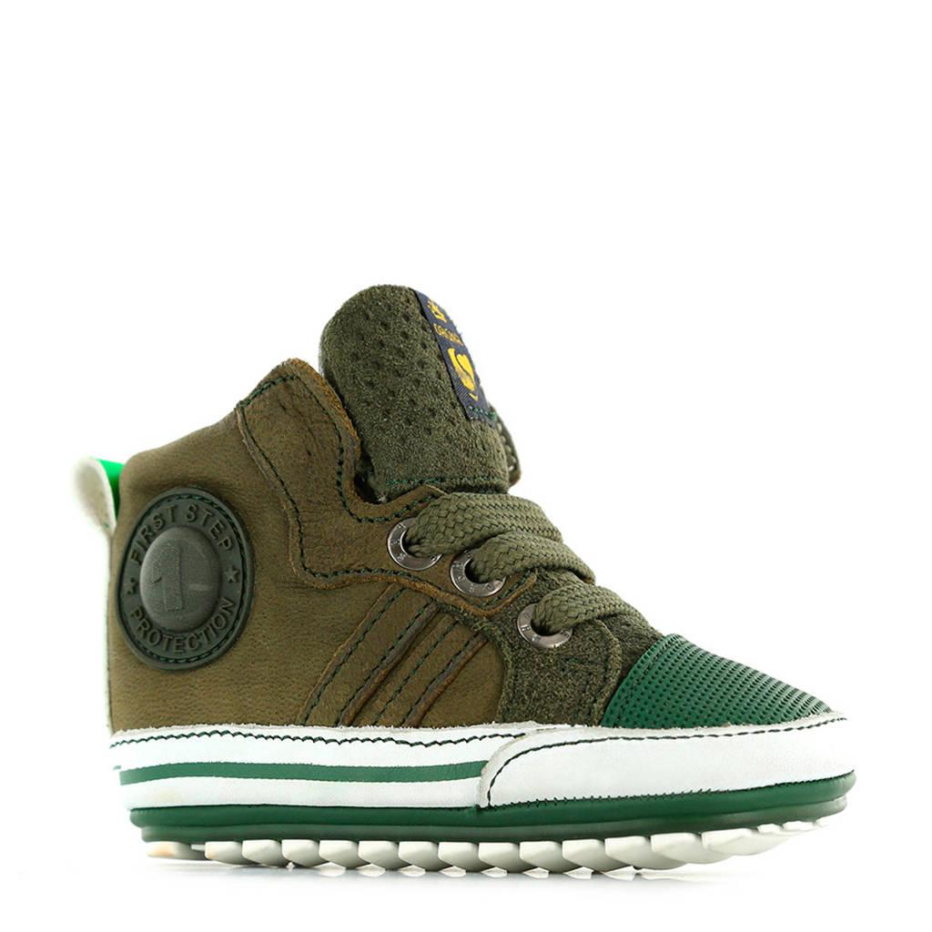 Shoesme   BP9W109-D suède babyschoenen groen, Groen