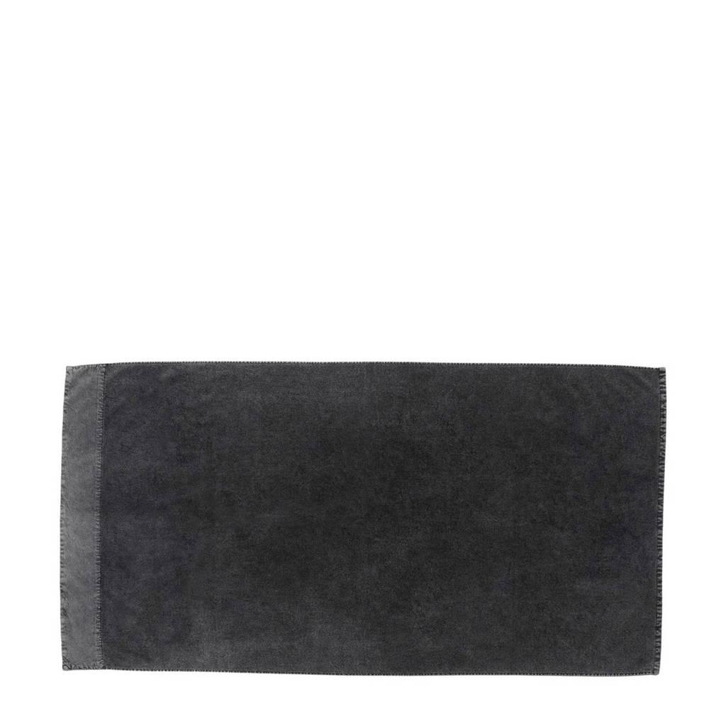 vtwonen handdoek Stone Wash (70 x 140 cm) Antraciet