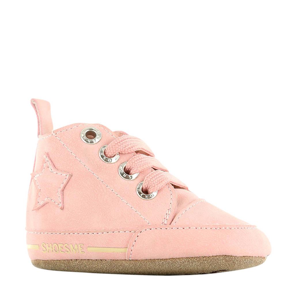 Shoesme leren babyslofjes roze, Roze