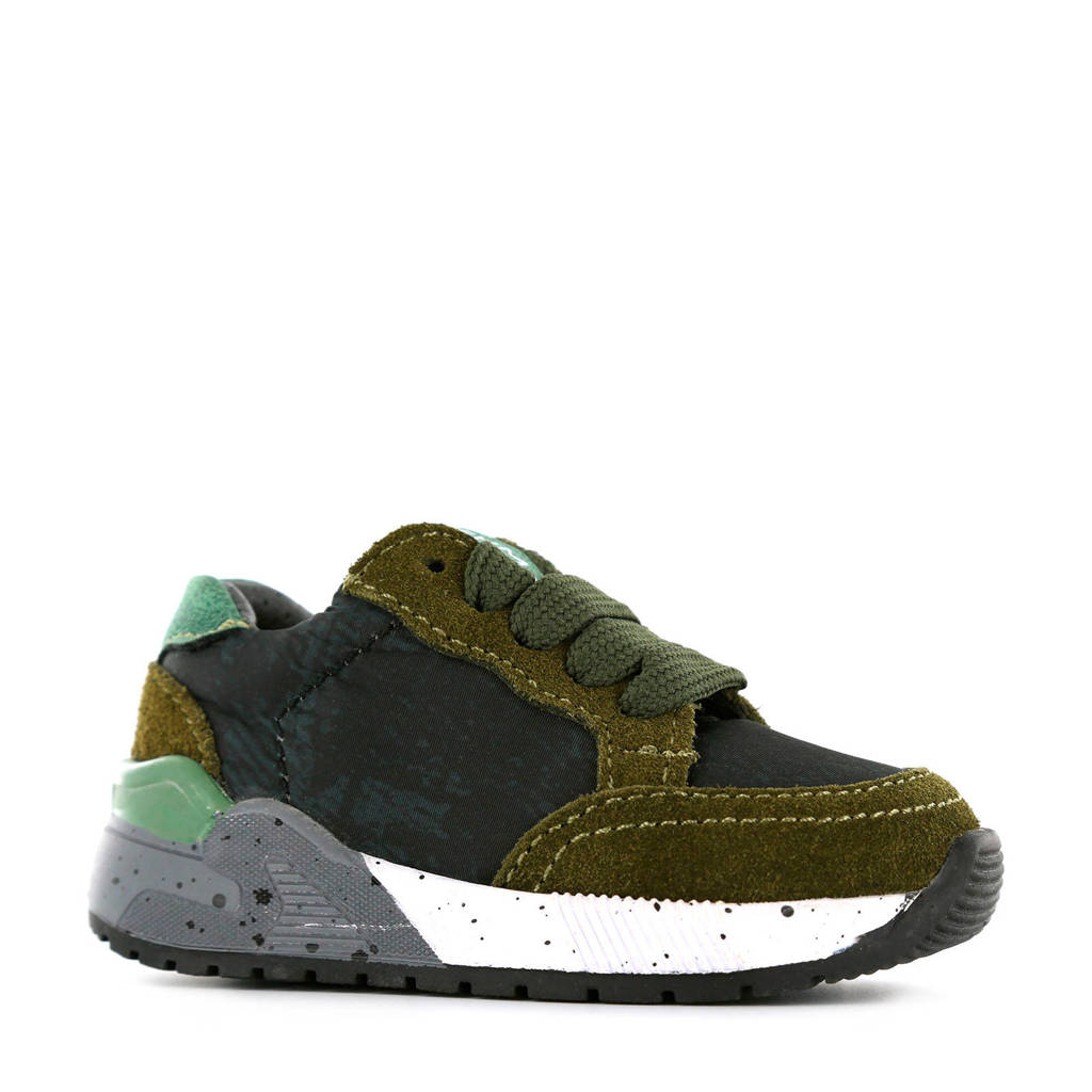 Shoesme ST9W033-M  suède sneakers groen, Groen/multi