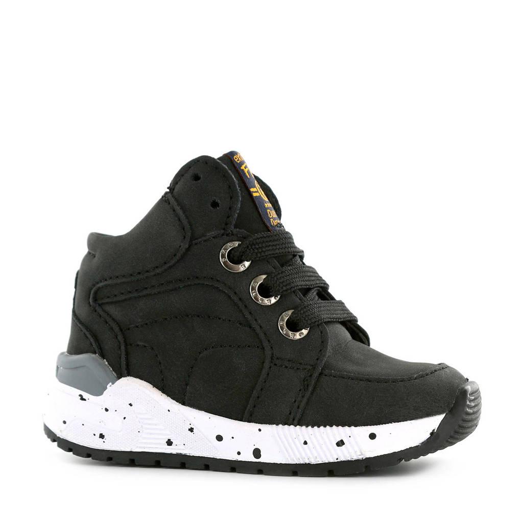 Shoesme ST9W036-D  hoge leren sneakers zwart, Zwart