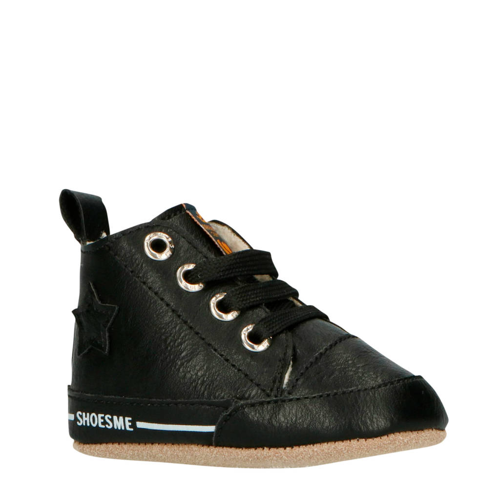 Shoesme giftbox babyslofjes zwart, Zwart