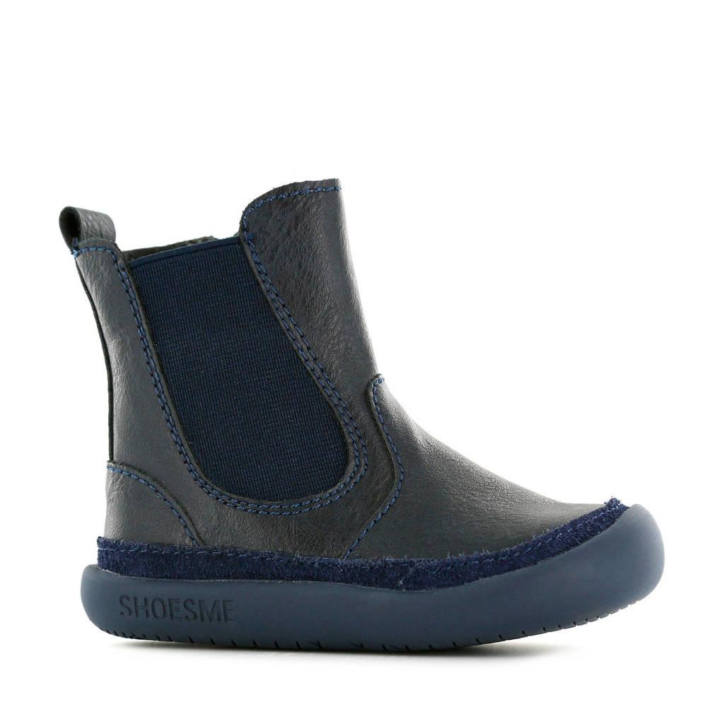 Shoesme BF9W003-E  leren babylaarsjes donkerblauw, Donkerblauw