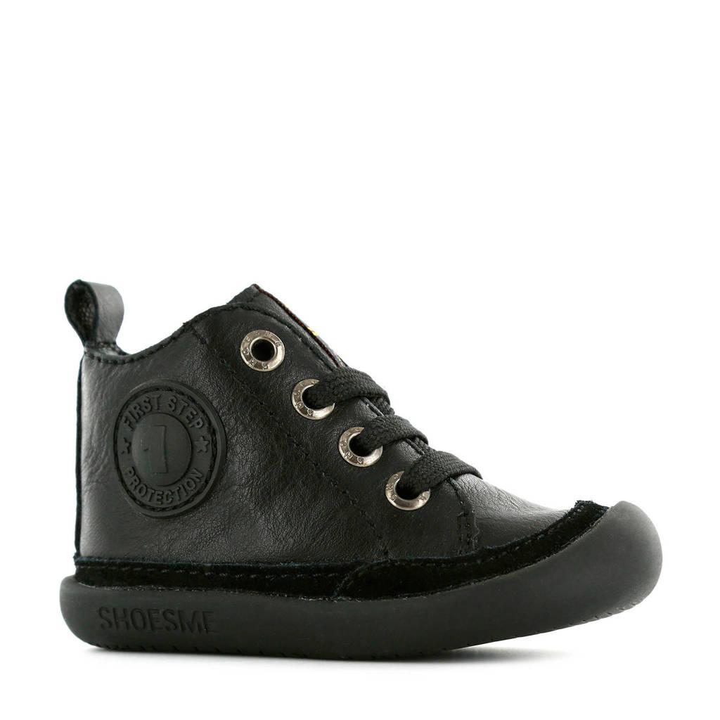 Shoesme BF9W001-F  leren babyschoenen zwart, Zwart