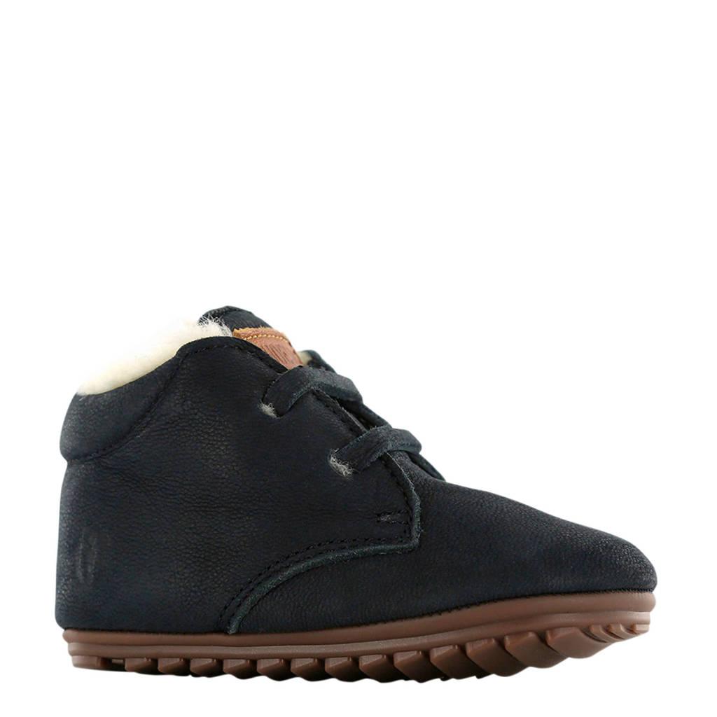 Shoesme   BP9W027-G leren babyschoenen donkerblauw, Donkerblauw