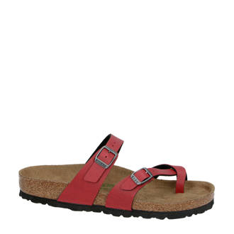 Vegan Mayari teenslippers rood