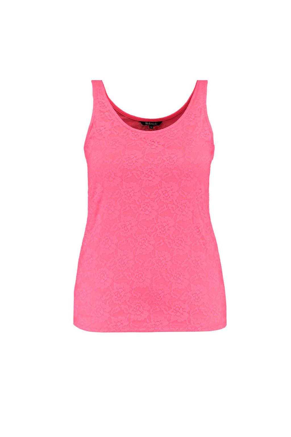 MS Mode kanten singlet roze, Roze