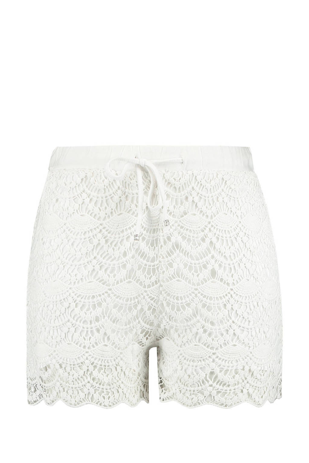 MS Mode kanten straight fit short wit, Wit