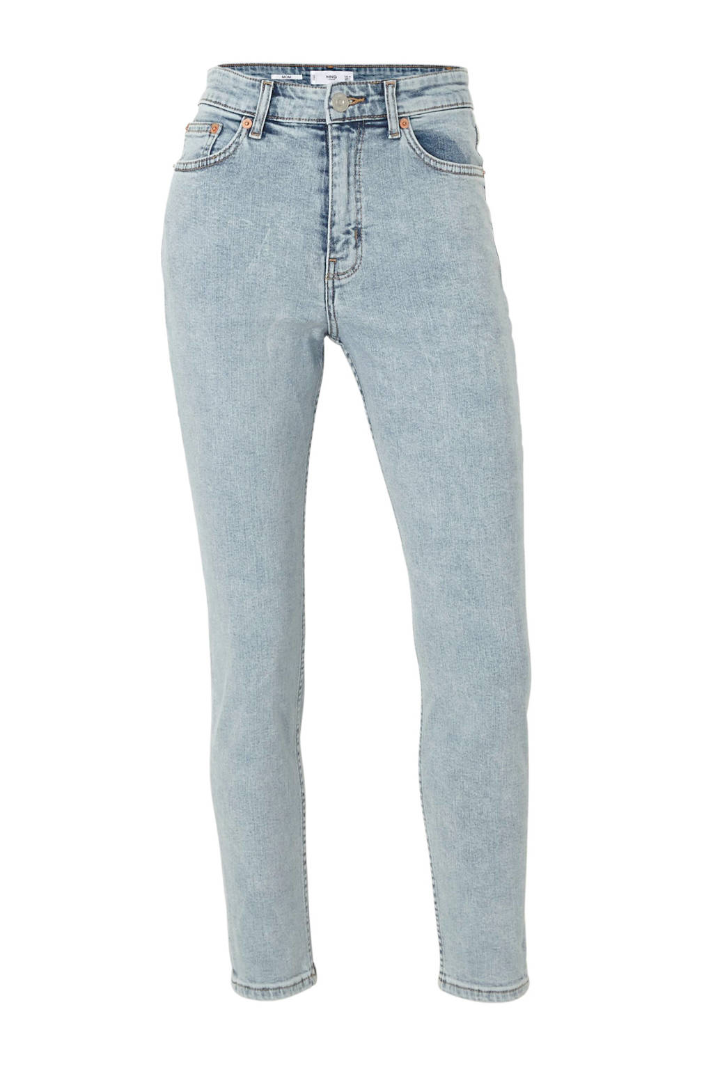 Mango high waist mom jeans, Blauw