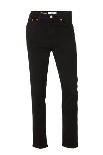 cropped high waist mom jeans