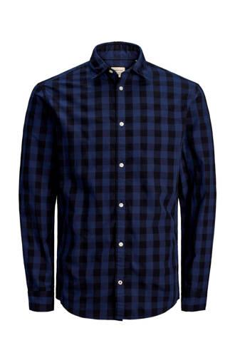 overhemd met ruitdesin blauw