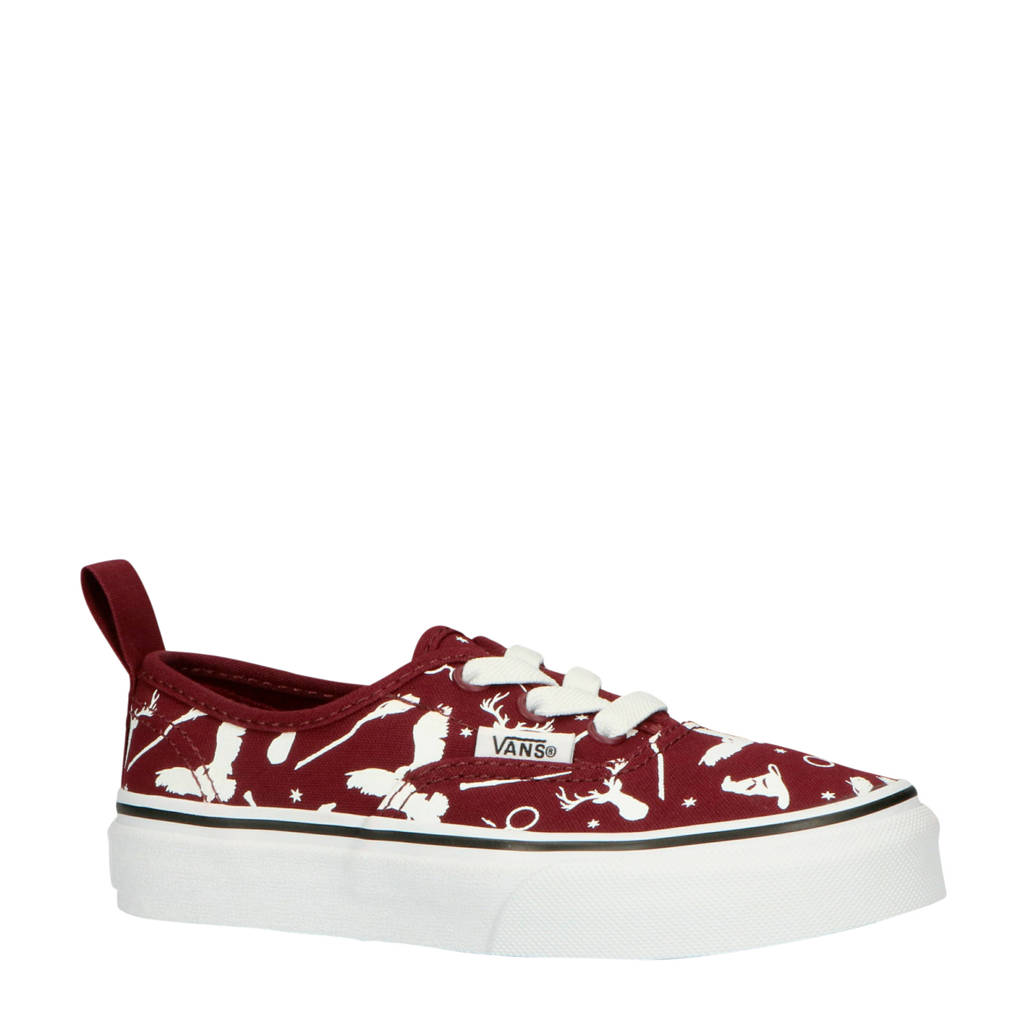 VANS  Authentic Elastic Harry Potter sneakers donkerrood/wit, Donkerrood/wit