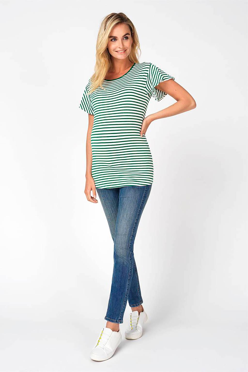 Noppies low waist skinny zwangerschapsjeans Avi blauw/ groen, 30