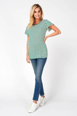 low waist skinny zwangerschapsjeans Avi blauw/ groen