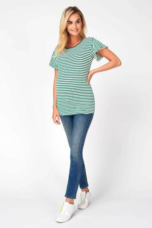 low waist skinny jeans Avi blauw/ groen