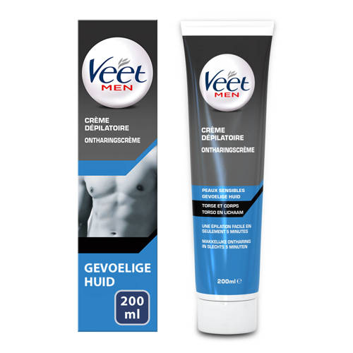 Veet For Men Ontharingscrème Chest&Body Gevoelige Huid 200 ml