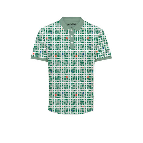Only & Sons polo met all over print