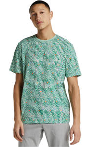 ONLY & SONS regular fit T-shirt met all over print, Groen