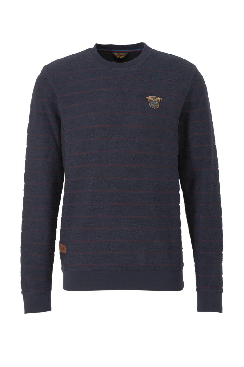 PME Legend gestreept T-shirt donkerblauw, Donkerblauw