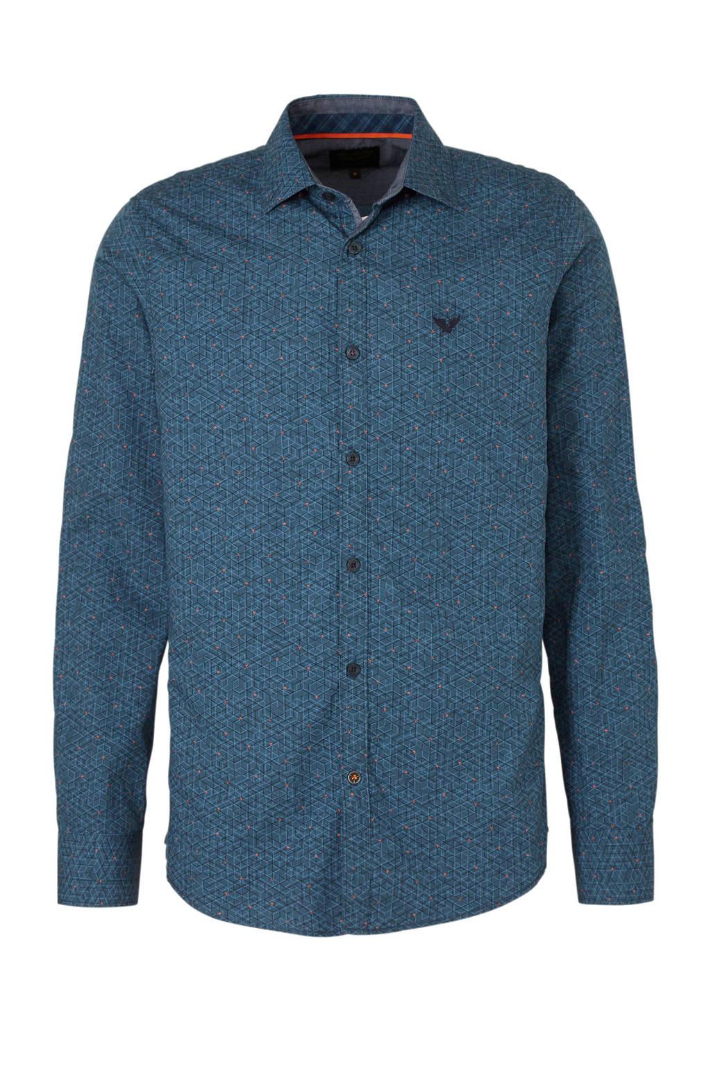 Donkerblauw Overhemd.Pme Legend Overhemd Met All Over Print Donkerblauw Wehkamp