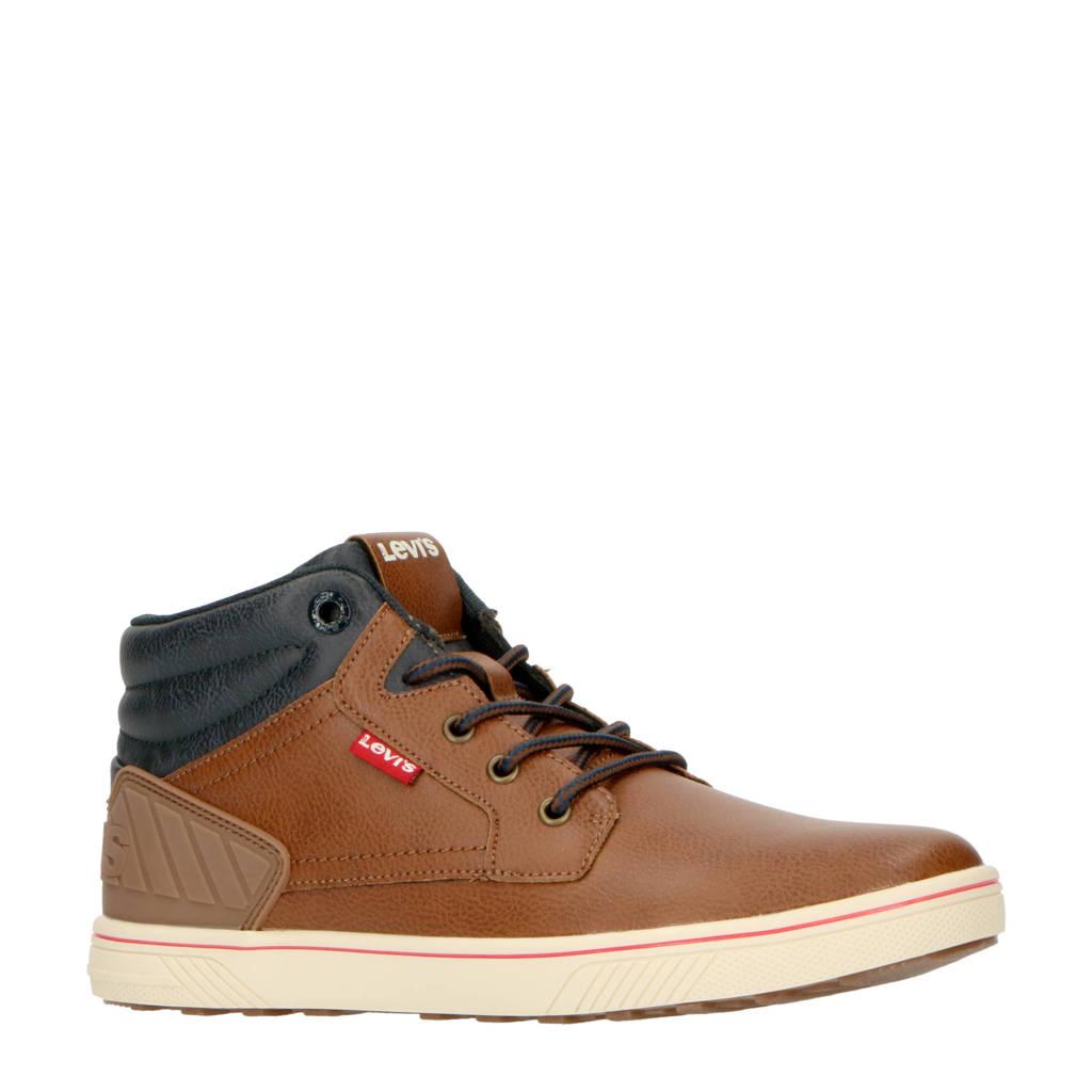 Levi's Kids New Portland Mid K  sneakers bruin, Bruin/blauw